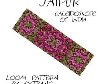 Loom bracelet pattern - JAIPUR - 6 colors only - Instant download