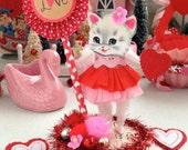 Vintage Inspired SuGaR SwEeT Valentine Kitschy Kitty Keepsake Be Mine Valentine Diorama RESERVED FOR Kimberley Drew