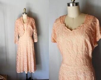 vintage CORNETTA lace dress and jacket