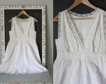 vintage MAISON BLANCHE lacey dress / rehearsal dinner dress