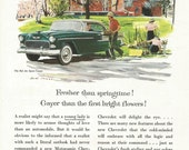 Vintage 1950s 1955 original magazine ad advertisement - Chevrolet   ----Expires May 23, 2016 and will not be renewed----