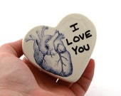 Valentine's Day gift, heart box, I love you, anatomical heart, heart shaped trinket or jewelry box, ring holder, gifts under 15