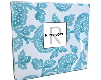 BABY BOOK | Modern Blue Mums Baby Book | Ruby Love Modern Baby Memory Book