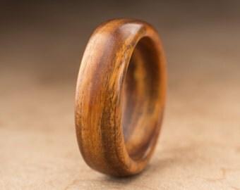 Size 10 - Guayacan Wood Ring No. 398