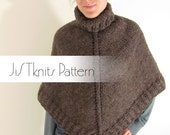JiSTknits Poncho Pattern PDF for heavy worsted or bulky weight yarn