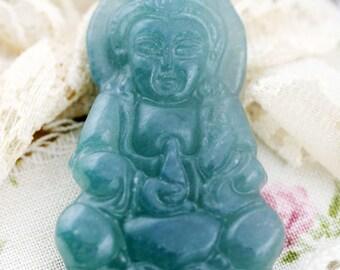 Guanyin compassion unisex necklace - agate, quartz and quartzite (BA)