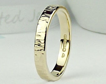 Solid 9ct Gold Strata Ring