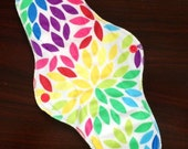 "12"" Extra-long Heavy Flow Reusable Cloth Pad ~ Prism Minky ~ by Talulah Bean"