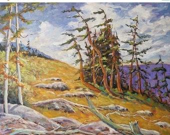 On Sale Mountain Top II original painting oil paintings created by Prankearts