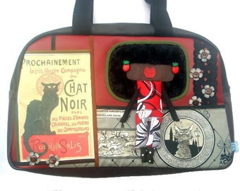 "Bag molly creative bag unique bag n58 ""Le chat noir"""