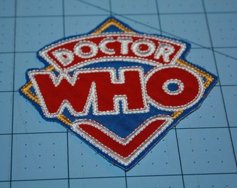 Doctor Who Iron on Patch