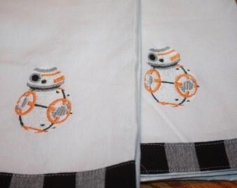 BB8 Machine Embroidered  Kitchen Towel Set