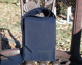 Navy Denim Mini Messenger Bag