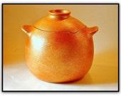 Bean Pot, 4.5 Qts., Handmade Micaceous Clay Cookware, Soup Pot, Rice Pot, Ceramic Pot, Stew Pot, Chili Pot, Handmade Pottery, Kitchenware