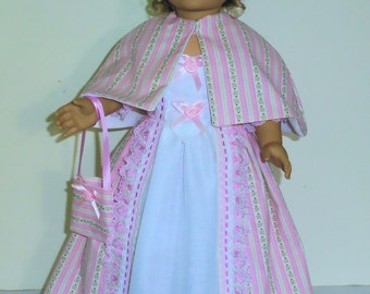 Summer Tea or garden dress fits American Girl 18 in. dolls. Created for Elizabeth or Felicity  No.663