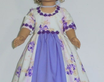 Colonial Tea or garden dress fits American Girl 18 in. dolls. Created for Elizabeth or Felicity  No. 688
