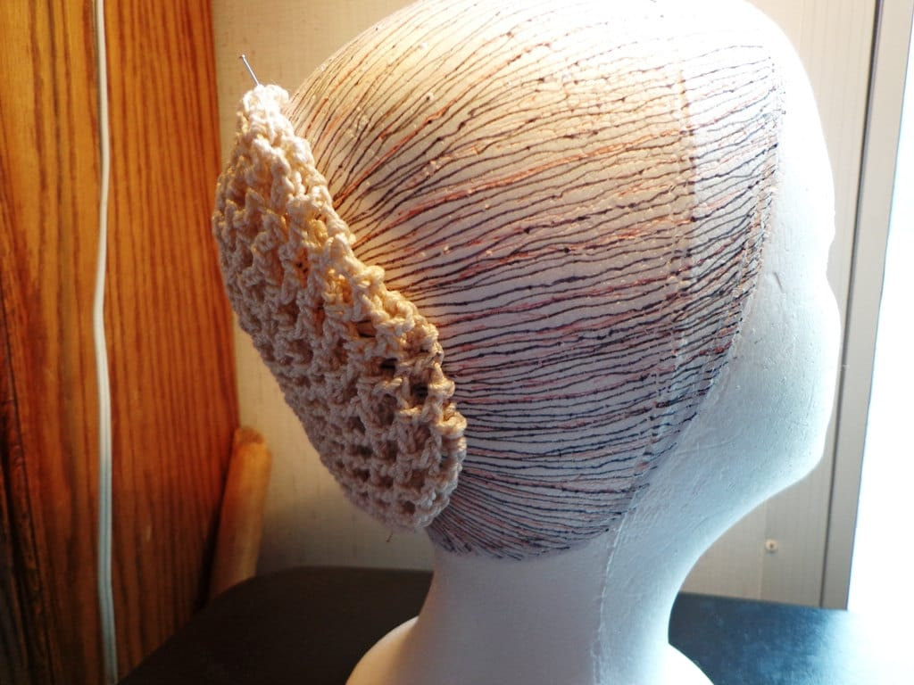 Crochet Hair Net Snood Pattern : Hair Net Snood Crocheted in Vintage Pattern With by susanlloyd