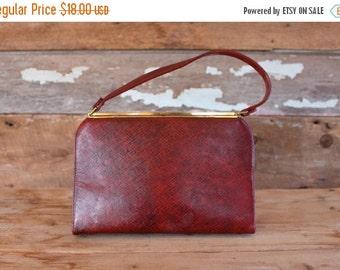SALE 1950s handbag by Coblentz / 1950s red kelly bag  / 1950s red frame purse