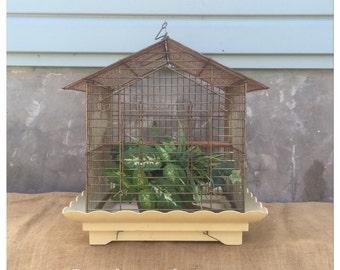 Vintage Bird Cage - Birdcage - Hanging Bird Cage - Bird Cage - Garden Decor - Succulent Planter - Decorative Bird Cage - Pacific Bird Cage -
