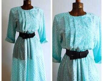 Minty Fresh Vintage Secretary Dress