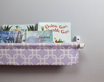 Book Sling - Lavender and White Gotcha Linking Box - Choose your size