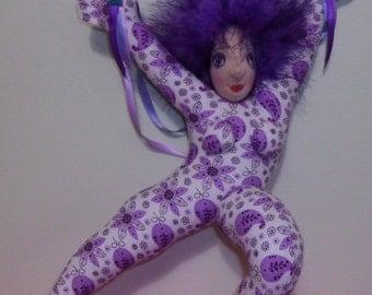 Dance of Joy purple cloth doll