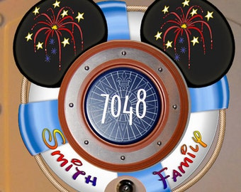 Download and print! Personalized Lifesaver Disney Cruise Door Magnet Design - DIGITAL FILES - Clip Art
