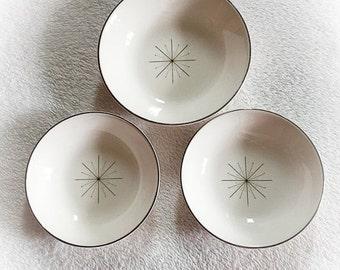 ON SALE Vintage Modern Star Pattern Bowls Set of 3