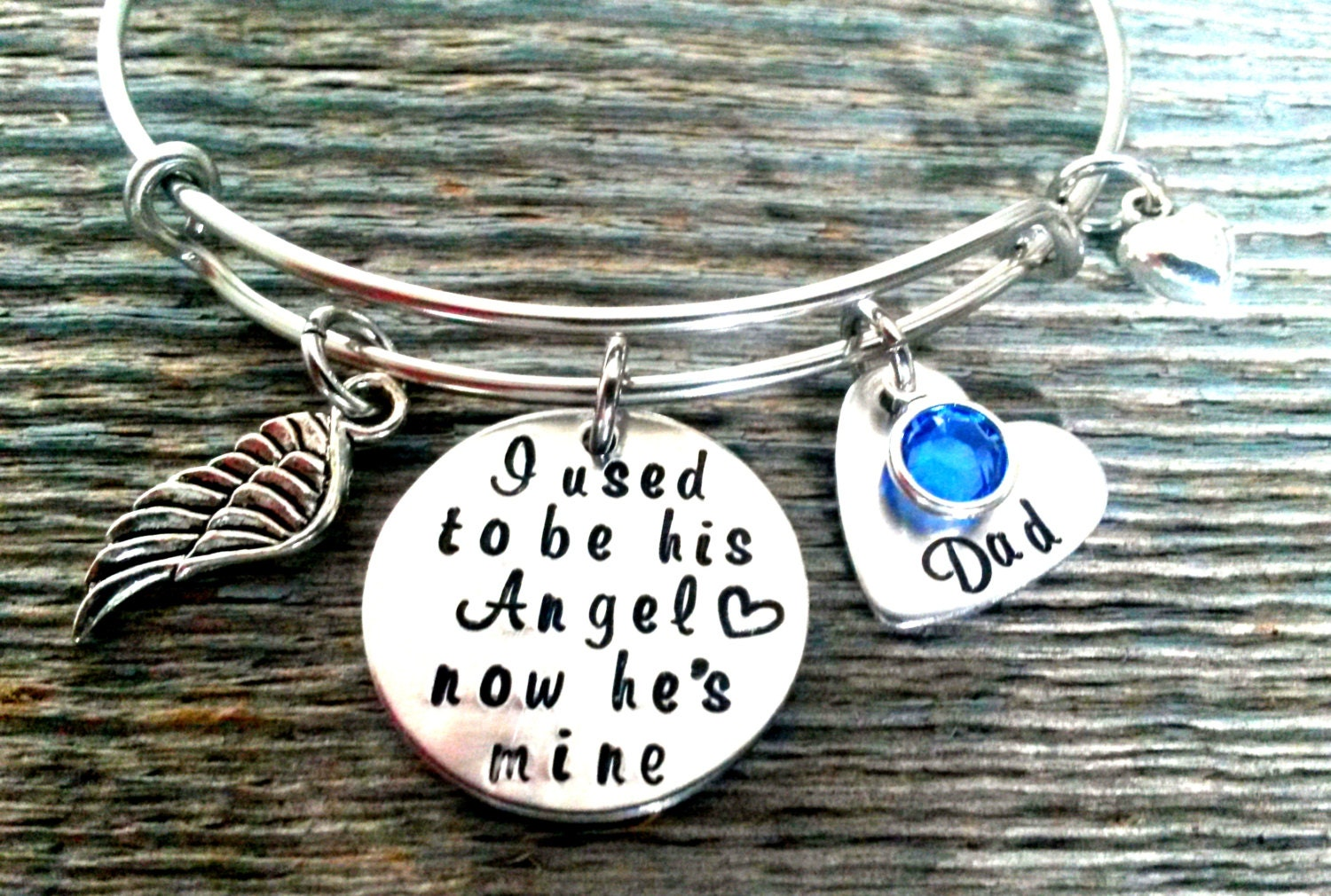 In memory of ornaments - Memorial Bracelet I Used To Be His Angel Now He S Mine In Memory Of