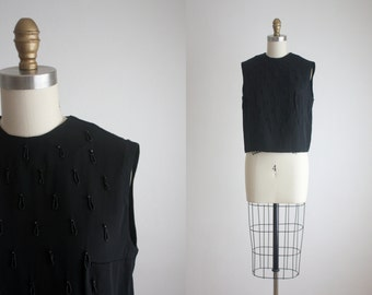 1960s teardrop beaded blouse
