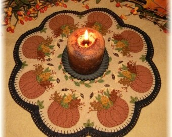 Fall's Bounty Penny Rug/Candle Mat MAILED PAPER PATTERN