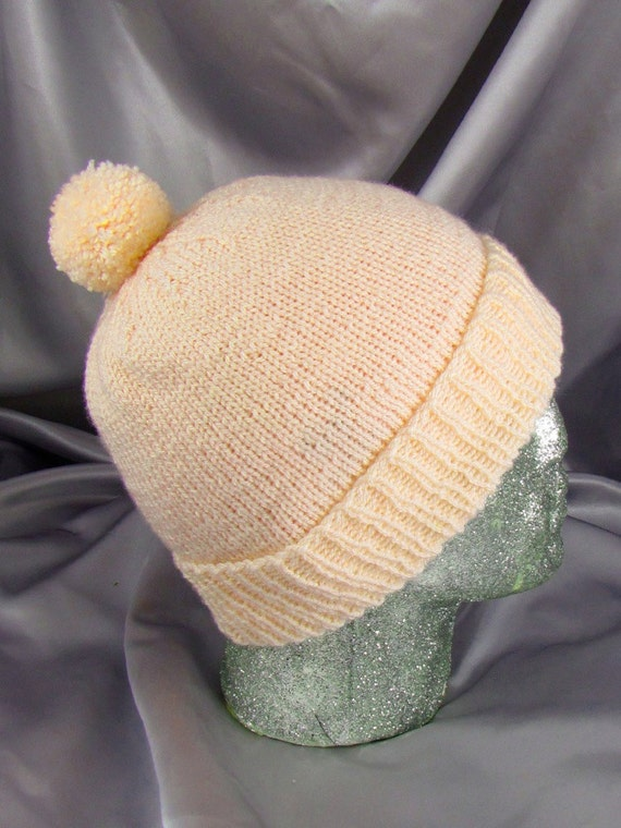 SALE Simple Bobble Beanie CIRCULAR knitting pattern by ...
