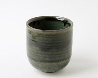 Wheel-thrown Ceramic Cup - Evergreen Glaze