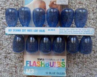 Vintage Sylvania Blue Dot M3B Flashbulbs pack of 12