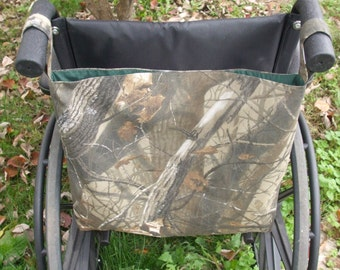 Camo Wheelchair Bag, Wheelchair Tote, Gentlemans Bag, Camouflage Caddy,