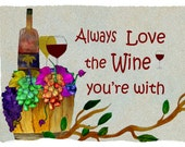 Always Love the wine you're with..Wine Bar Throw Blanket from my original art
