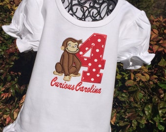 Girls Curious George with Age