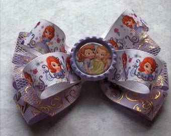 Princess Sophia boutique hair bow for giirls