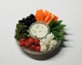 2 Veggie Platter charms