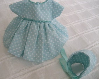 "Ginny 8"" Doll Clothes, ""Raylee"" Dress and Bonnet"
