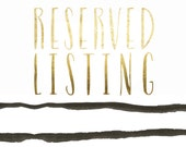 Reserved Listing for Hana