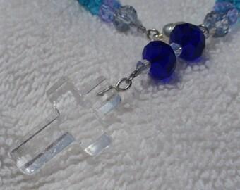Cool Water Cross Bracelet