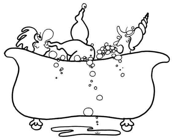 coloring pages bathtub - bubble bath beauties fun coloring pages for adults from the