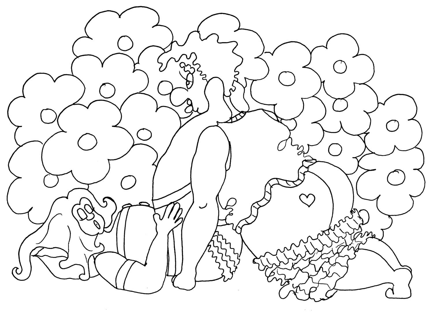the snail kama sutra pose coloring pages from the