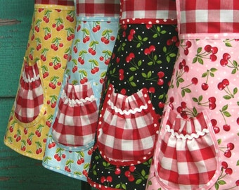 Birthday Party - Pre-Teen Party Aprons - Party Aprons - Cherry