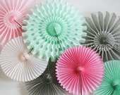 Paper Fans party decoration // weddings // birthdays