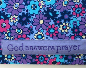 Floral Magnetic Board, God Answers Prayer Magnetic Board, Purple, Pink, Blue Magnetic Board