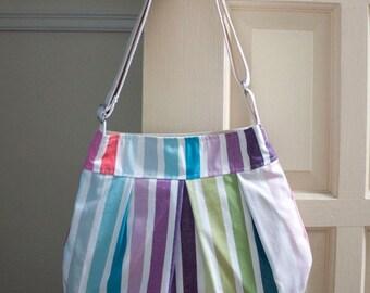 black friday 20% off // striped cross body bag // pleated rainbow purse // ipad bag // mod stripe // the charlie bag // READY TO SHIP