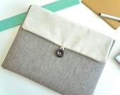 Herringbone iPad Case Sleeve Padded iPad Bag iPad Pro Case Clutch Envelope