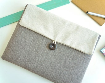 Herringbone iPad Case Sleeve Padded iPad Bag iPad Pro Case Clutch Envelope